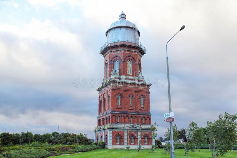 Torre de água histórica em Invercargill, Nova Zelândia fotografia de stock