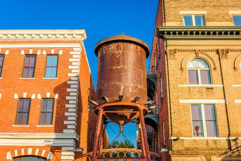 Torre de água móvel de Alabama fotos de stock