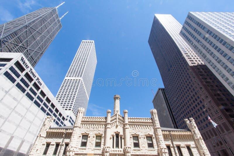 Torre de água velha Chicago Illinois foto de stock