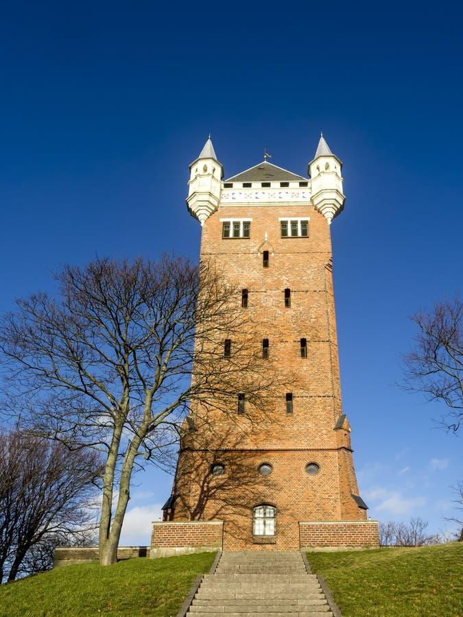 A torre de água velha, Esbjerg, Dinamarca imagem de stock