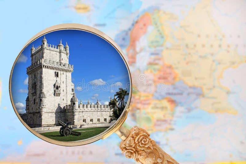Torre de贝拉母,里斯本,葡萄牙 库存图片