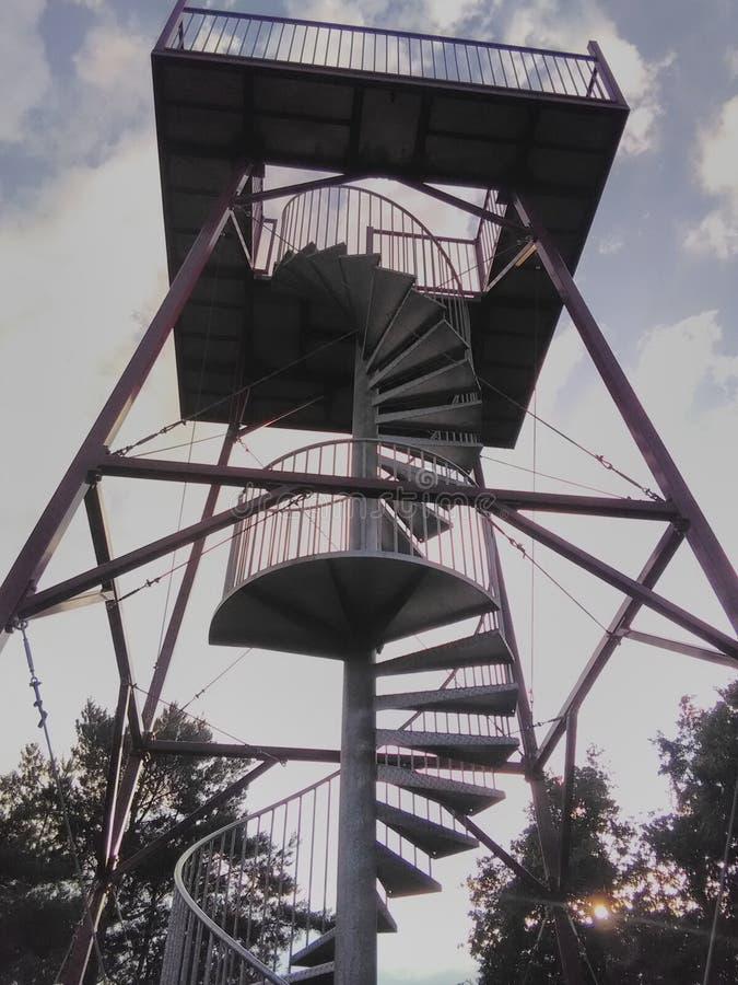 Torre de acero del puesto de observación en Paalgraven Oss imagen de archivo