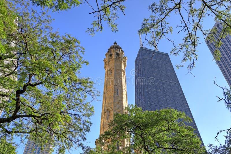 Torre de agua de Chicago imagen de archivo libre de regalías