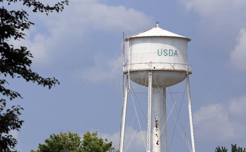Torre de agua del USDA foto de archivo libre de regalías