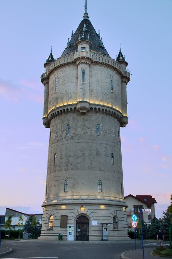 Torre de agua de Drobeta Turnu Severin - una de las señales del ` s de la ciudad fotos de archivo libres de regalías