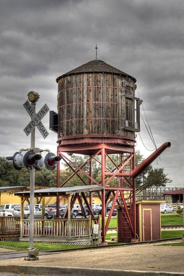 Torre de agua para el tren foto de archivo