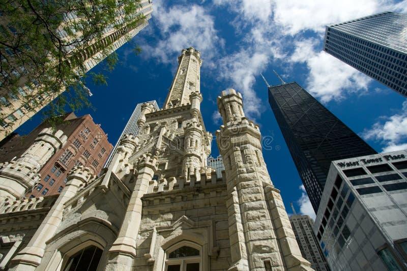 Torre de agua vieja, Chicago imagenes de archivo