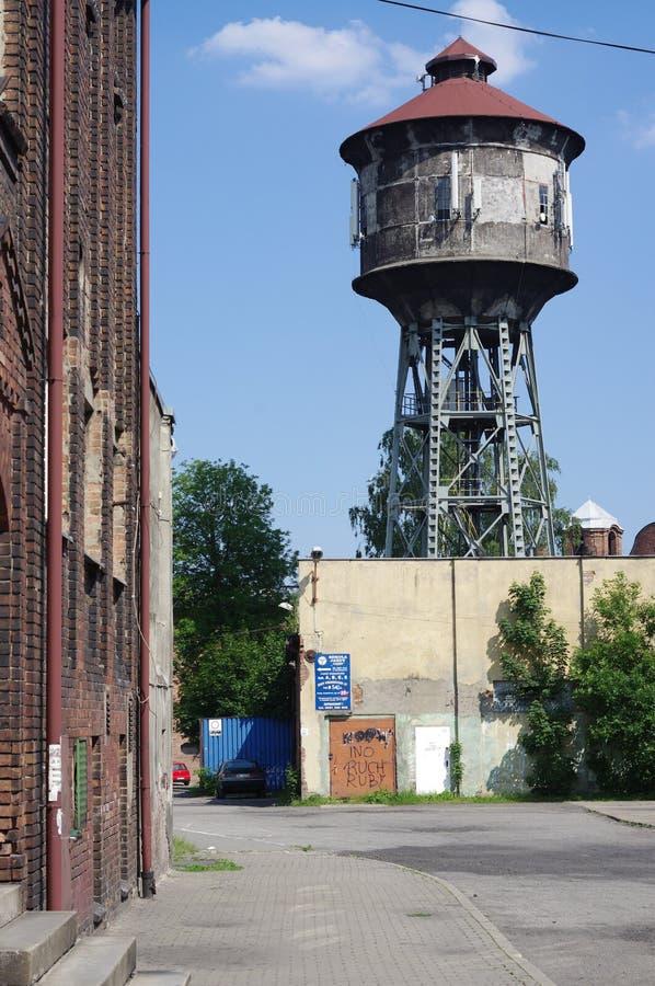 Torre de agua vieja en Katowice, Polonia imágenes de archivo libres de regalías