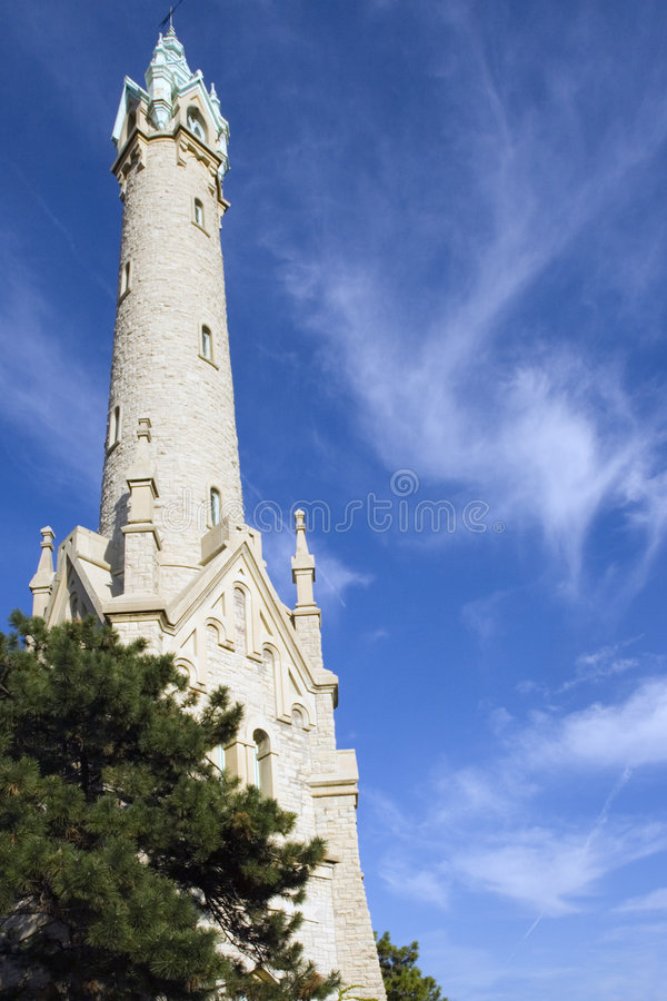 Torre de agua vieja, Milwaukee fotografía de archivo libre de regalías