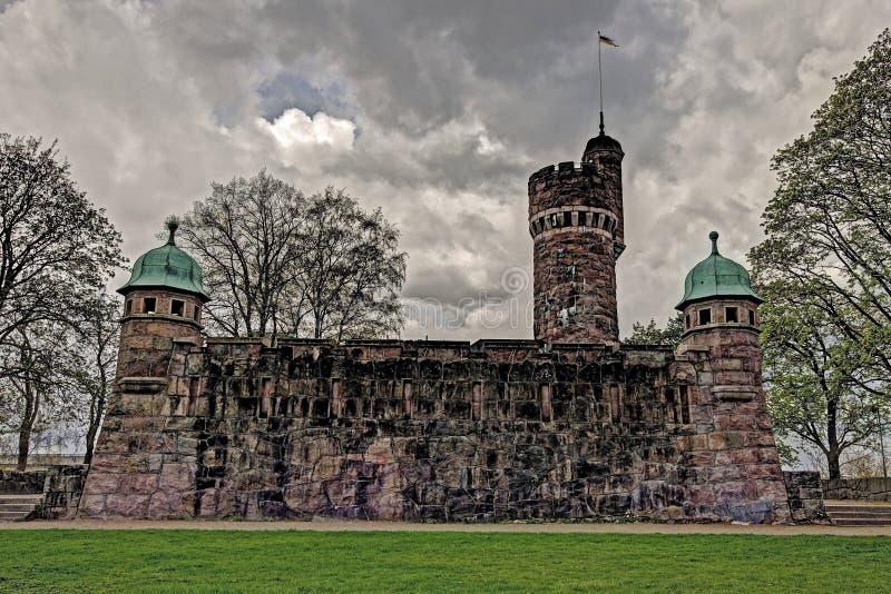 Torre de agua vieja, Suecia en HDR foto de archivo