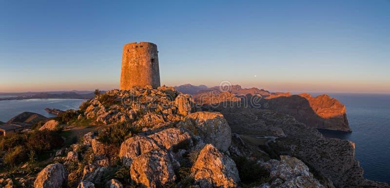 Torre de Albercutx Panorama stockfoto