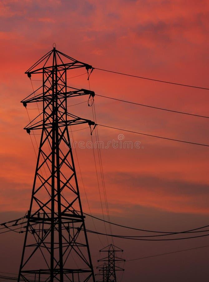 Torre de alto voltaje foto de archivo libre de regalías