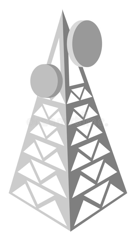 Torre de antena ilustração stock