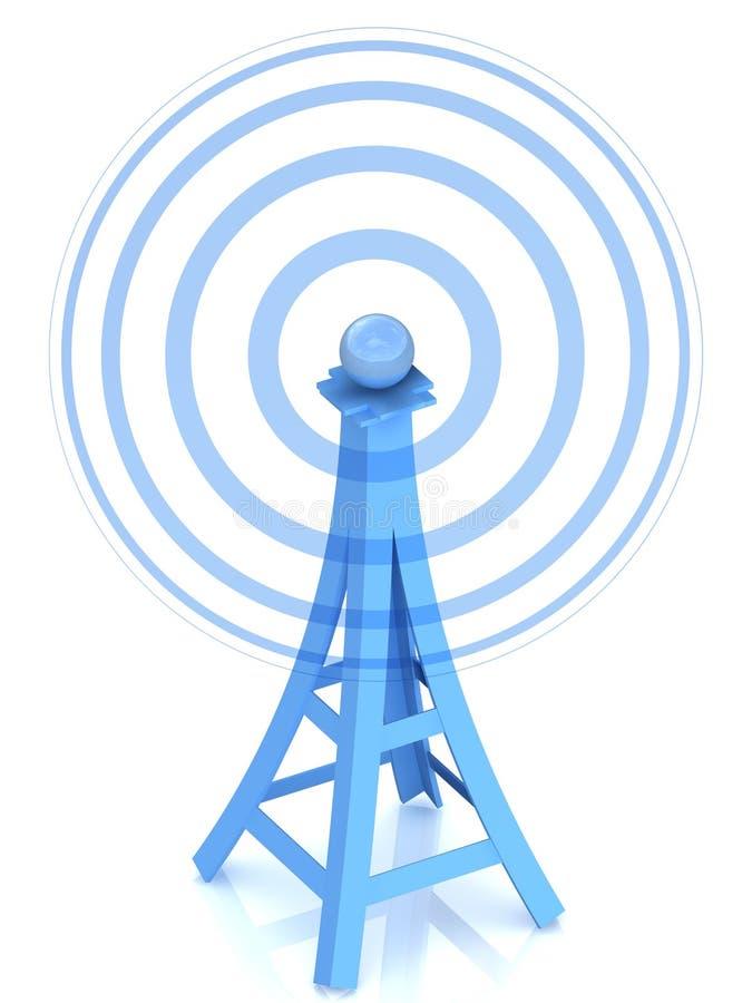 Torre de antena de la comunicación stock de ilustración