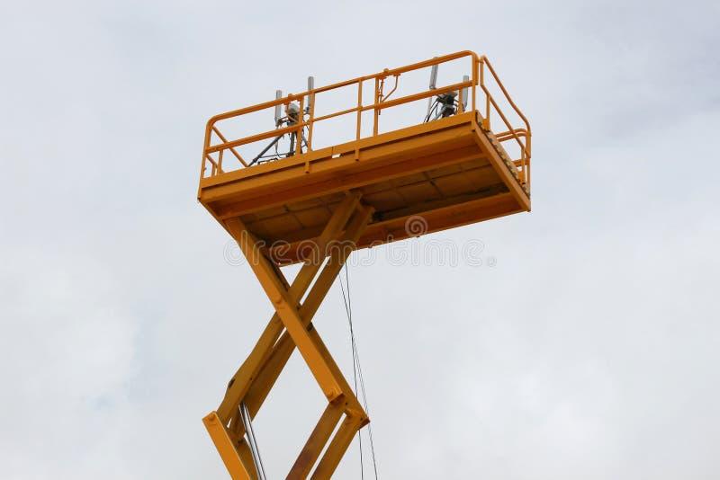 Torre de antena de uma comunicação fotografia de stock royalty free