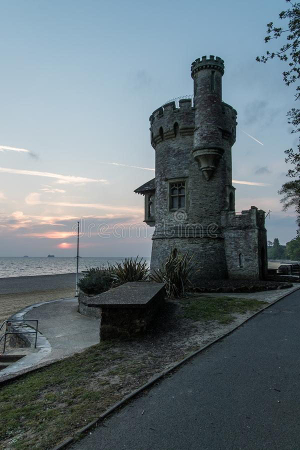 Torre de Appley, Ryde, Wight de Isleof, nascer do sol fotografia de stock