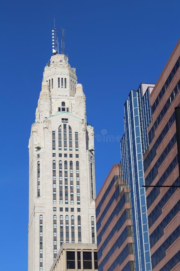 Torre de Art Deco Style LeVeque, Columbus Ohio fotografía de archivo