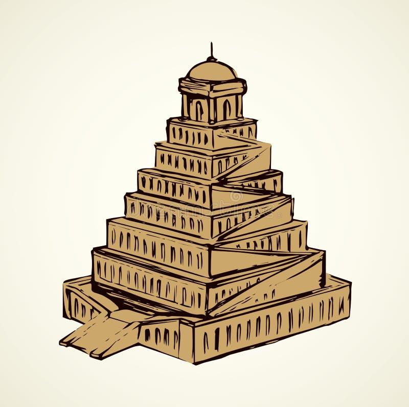 Torre de Babel Gr?fico del vector stock de ilustración