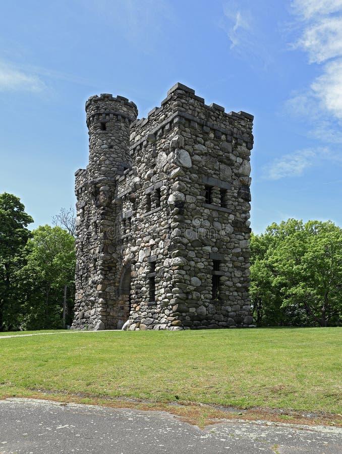 Torre de Bancroft no parque de Salisb?ria, Massachusetts fotos de stock