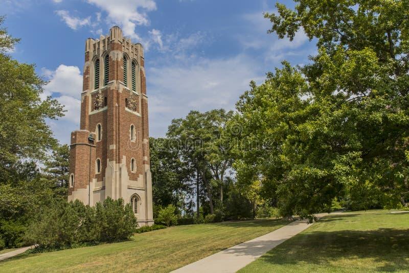 Torre de Beaumont en la universidad de estado de Michigan imagen de archivo libre de regalías
