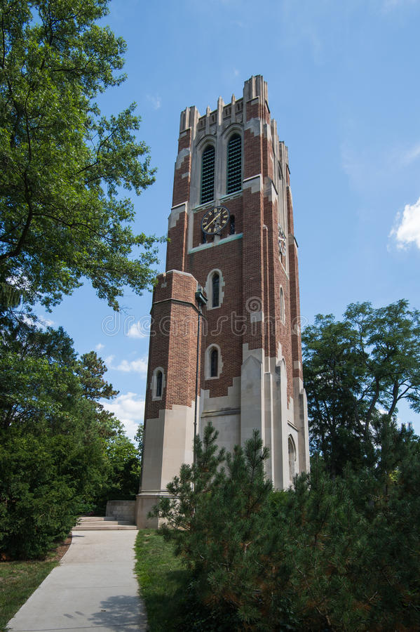 Torre de Beaumont en MSU fotografía de archivo