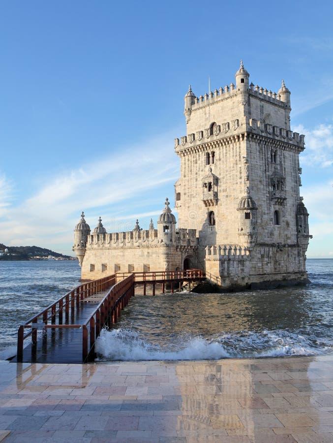 Torre de Belém em Lisboa imagens de stock