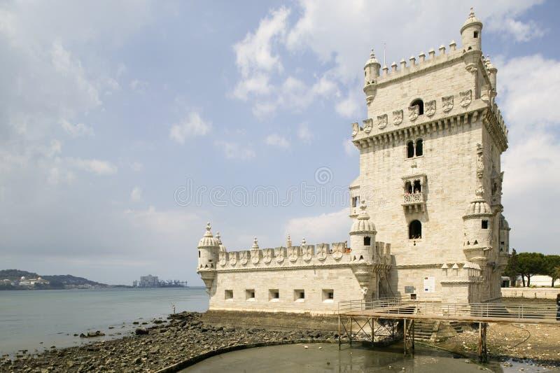 A torre de Belém, um local do patrimônio mundial do UNESCO, em Lisboa/Lisboa Portugal fotos de stock