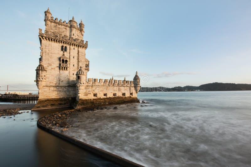 Torre de Belem en el río Tagus Lisboa imágenes de archivo libres de regalías