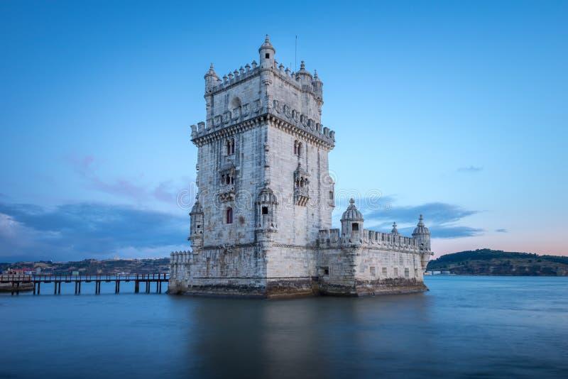 Torre de Belem en el río Tagus en Lisboa, Portugal foto de archivo