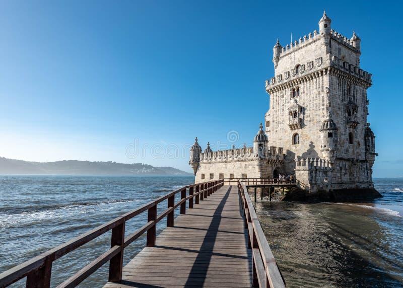 Torre de Belem en Lisboa foto de archivo