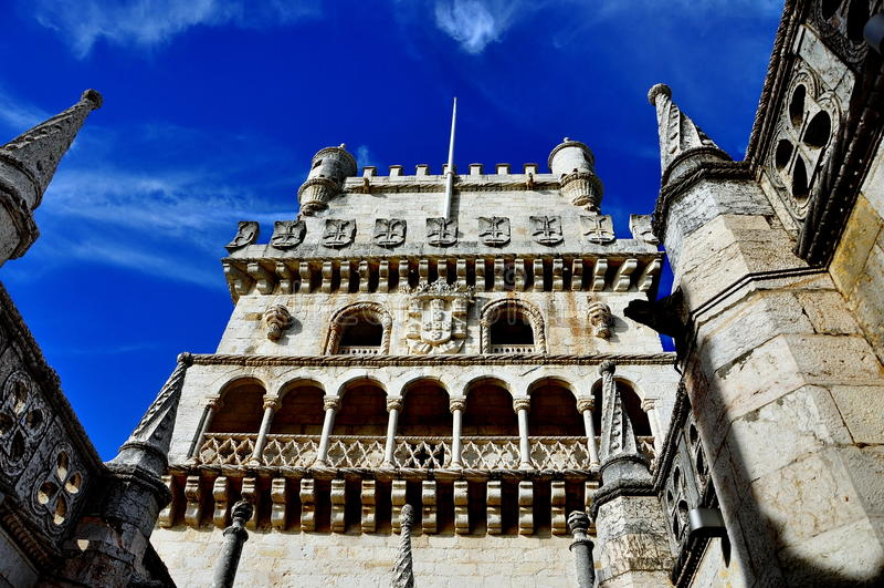 Torre de Belem en Lisboa, Portugal fotografía de archivo