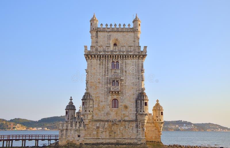 Torre de Belem en los bancos del río el Tajo fotografía de archivo libre de regalías
