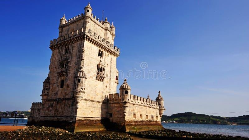 Torre DE Belem, Lissabon, Portugal stock afbeelding