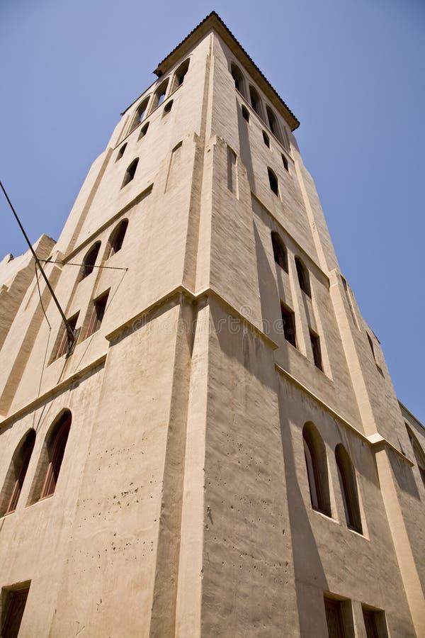 Torre de Bell abandonada histórica da igreja fotos de stock royalty free