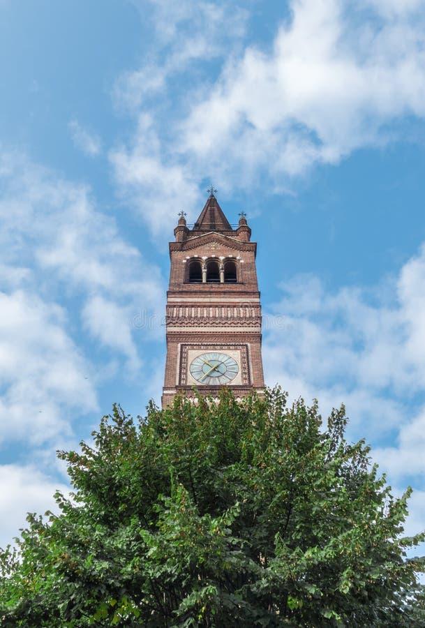 Torre de Bell adda do sull do trezzo ' imagens de stock