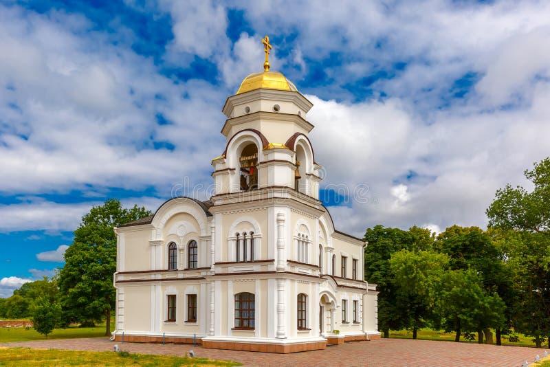 Torre de Bell da fortaleza de Bresta, Bielorrússia imagem de stock