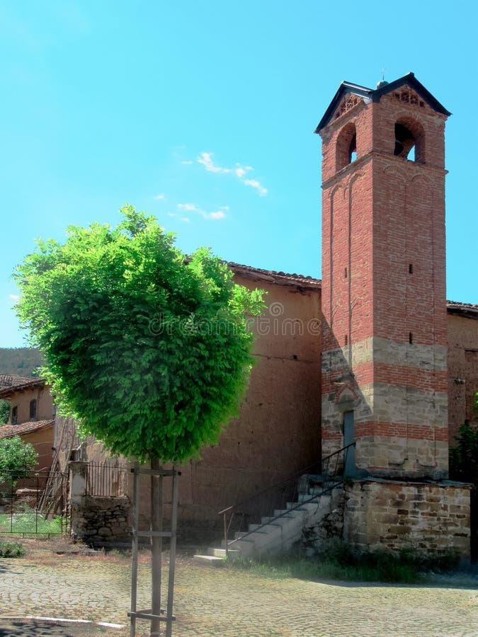 Torre de Bell da vila fotografia de stock