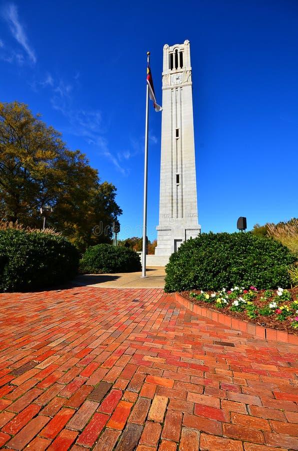 Torre de Bell do estado do NC fotos de stock royalty free