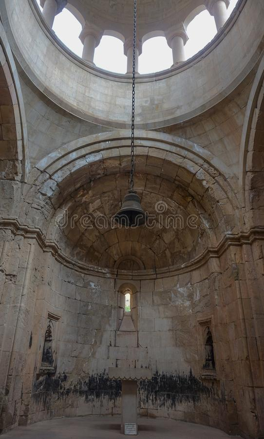 Torre de Bell do monastério de Noravank fotos de stock
