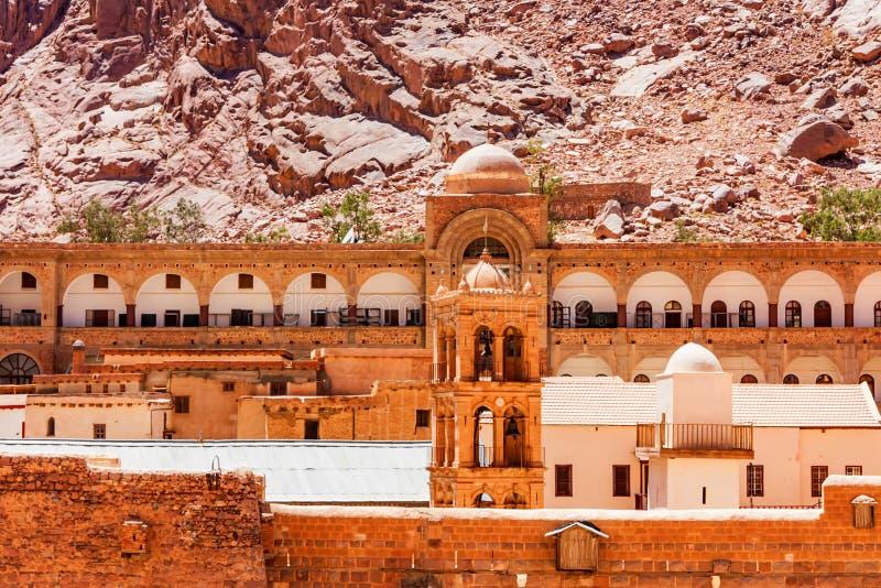 Torre de Bell do monastério do ` s de Catherine de Saint, Egito foto de stock royalty free