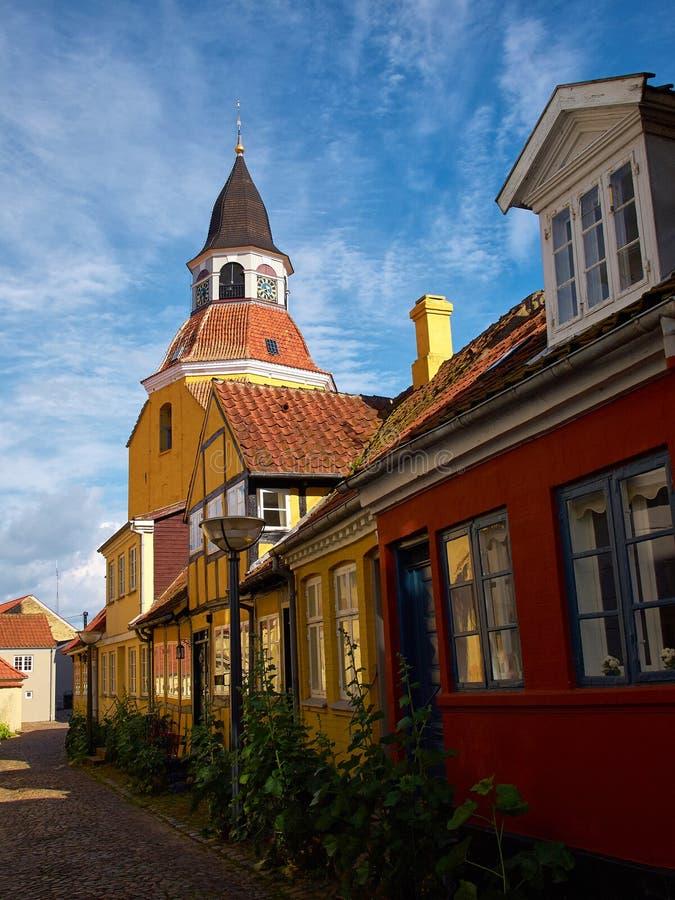 Torre de Bell em Faaborg Fiónia Dinamarca imagens de stock