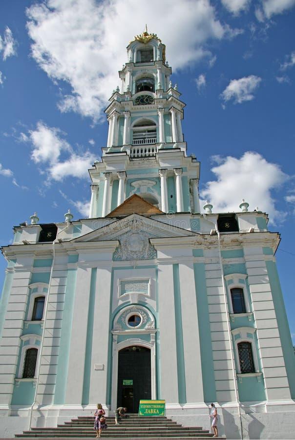 Torre de Bell na trindade Lavra de St Sergius Sergiyev Posad, Rússia fotos de stock royalty free