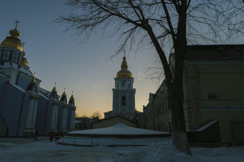 Torre de Bell no monastério de St Michael em Kiev, Ucrânia imagens de stock
