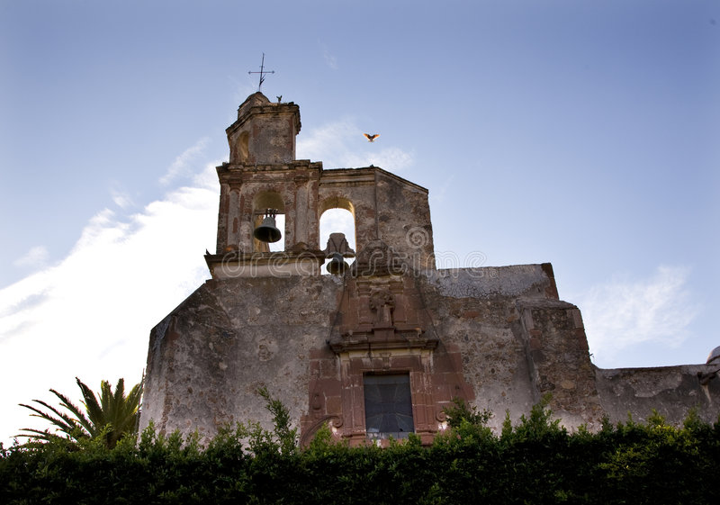 Torre de Bell San Miguel da igreja México fotos de stock royalty free