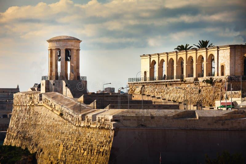 Torre de Bell Valletta memorável, Malta imagens de stock royalty free