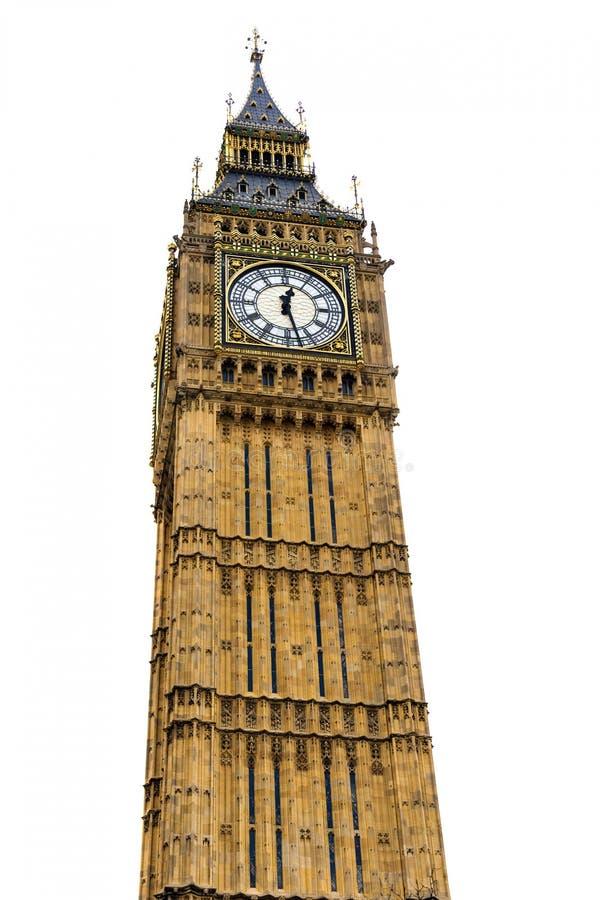 Torre de Big Ben isolada imagens de stock royalty free