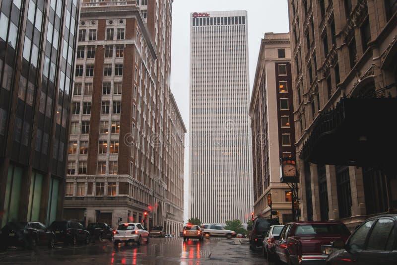 Torre de BOK em Tulsa, Oklahoma foto de stock