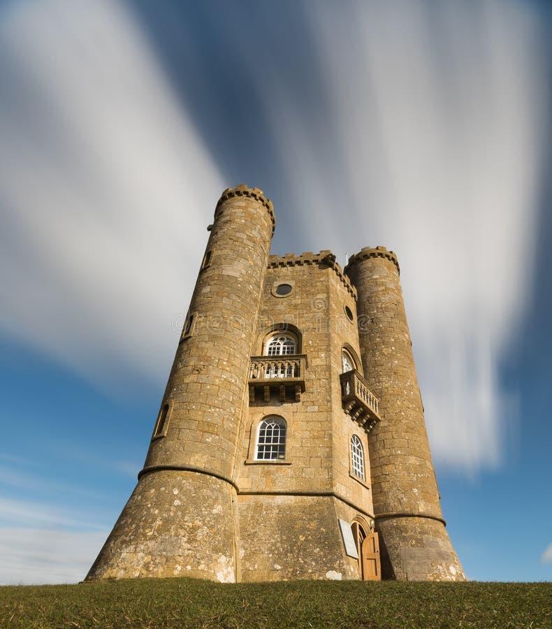 Torre de Broadway, Cotswolds, Worcestershire fotos de stock