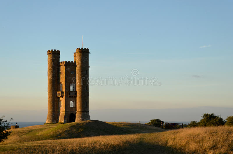 Torre de Broadway no por do sol foto de stock royalty free