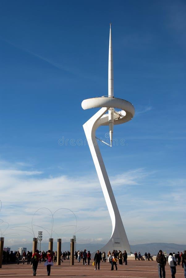 Torre de Calatrava - Barcelona imagem de stock
